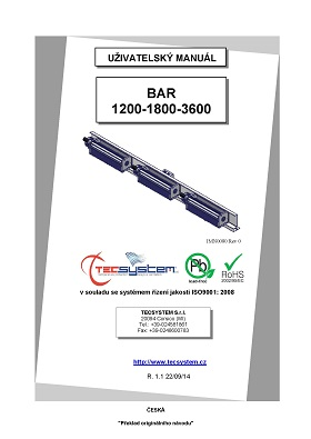 manual BAR 1200 1800 3600 CZ